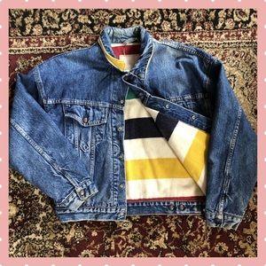 Vintage Levis Hudson Bay Blanket Lined  Jacket M-L